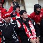 Хоккеисты «Спартака» посетили матч «Спартак» - «Зенит»