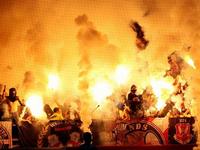 Фанаты «Спартака» выкрали и сожгли армейский баннер (Фото)